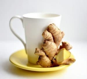 ginger and white cup